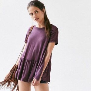 Truly Madly Deeply Plum Purple Short Sleeve Top